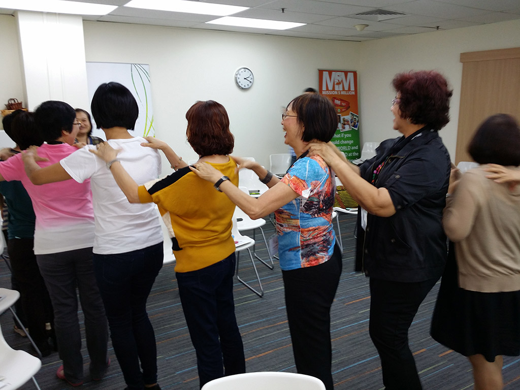 Conga line in Singapore