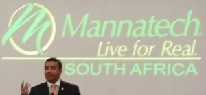 Mannatech President Al Bala at the South African Super Regional