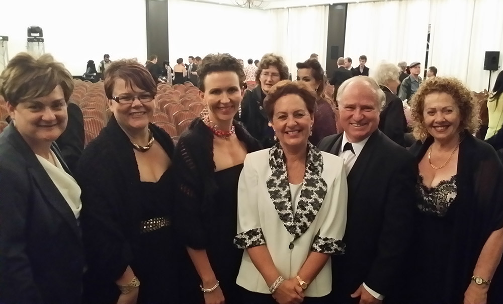 ND Sonja Windsor (S.A.), ND Deidre Jackson (AU), NA Kate Warby (AU), PPDs Leoni and Louis Van Der Linder (S.A.) BPD Karen Denniss