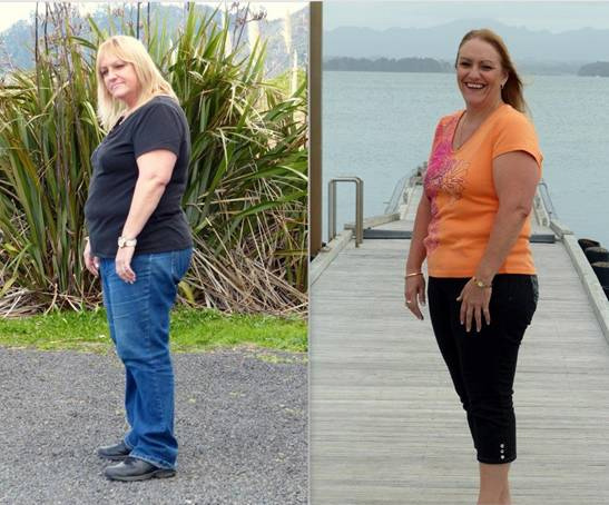Alaine Hamilton went from a size 22 to a size 16 by changing her lifestyle during a 90 day trial of Mannatech's new fat loss system launching today