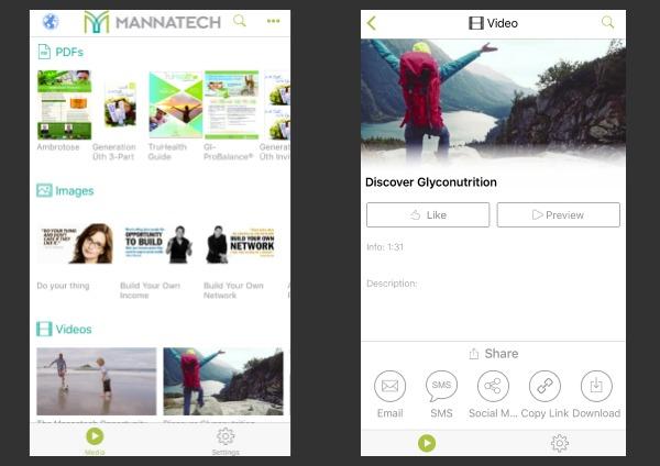 Mannatech+ App