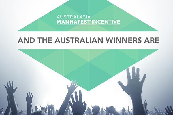 Australian Australasian MannaFest 2016 Incentive Winners