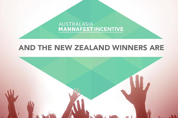 New Zealand Australasian MannaFest 2016 Incentive Winners