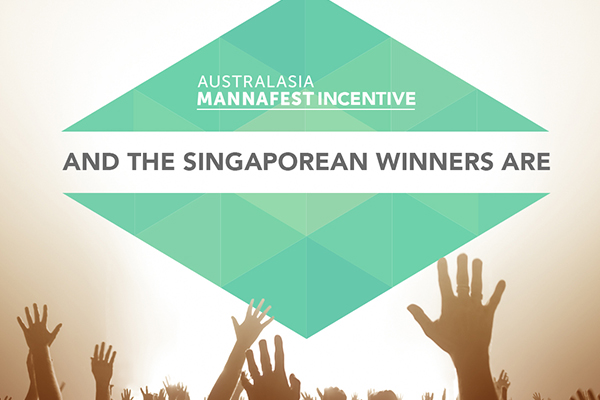 Singaporean Australasian MannaFest 2016 Incentive Winners