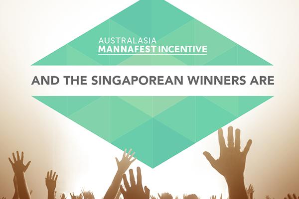 Singaporean Australasian MannaFest 2016 Incentive Winners