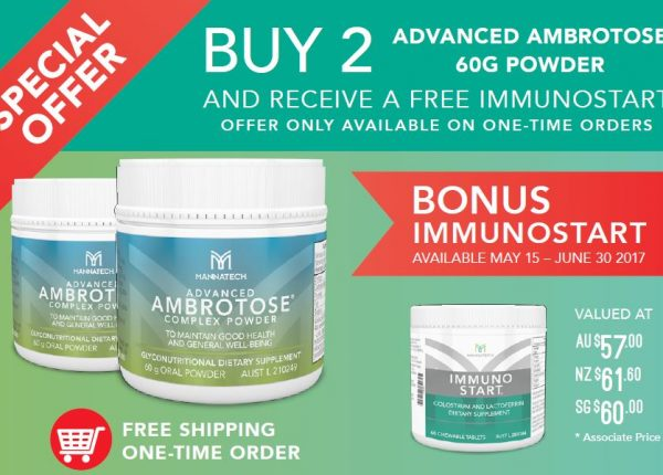 Special Offer! Buy 2 Ambrotose 60g and Receive a FREE Immunostart