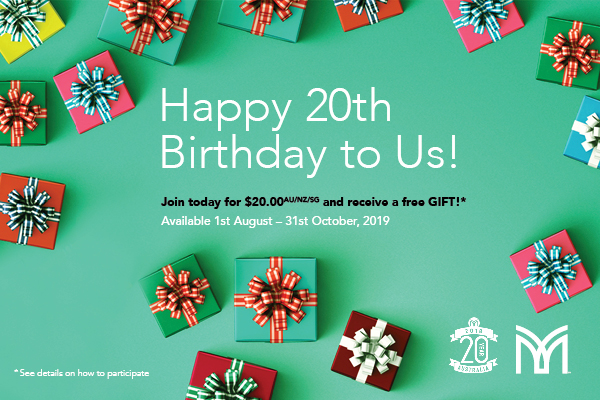 Celebrate 20th Anniversary with a $20 Sign Up Fee