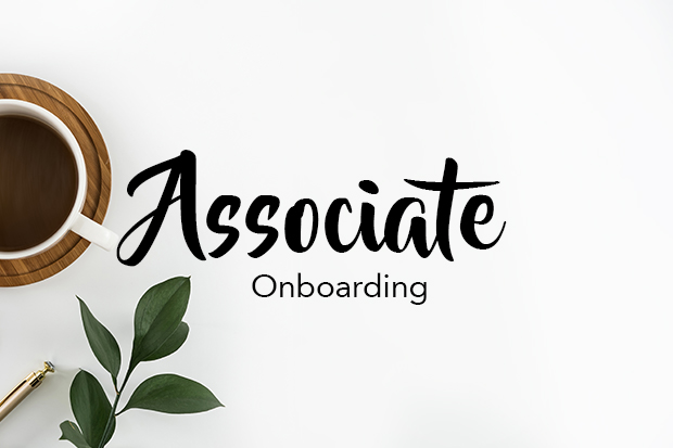 Associate training and onboarding page